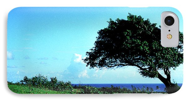 Lone Tree Blue Sea Phone Case by Thomas R Fletcher