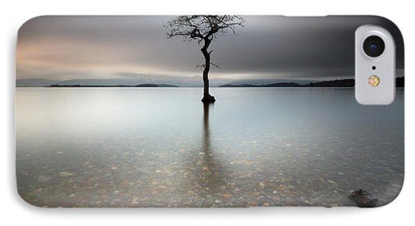 Lone Tree Loch Lomond IPhone Case by Grant Glendinning