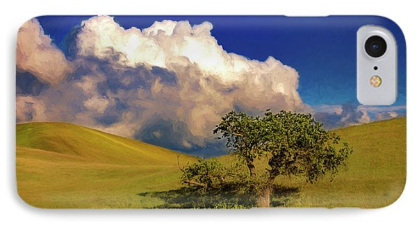 Lone Tree With Storm Clouds IPhone Case by John A Rodriguez