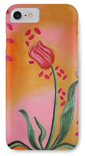 Lone Tulip IPhone Case by Christine Perry