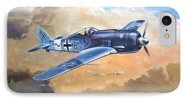 'lone Warrior Fw190' IPhone Case by Colin Parker