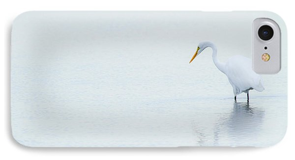Lonely Egret Phone Case by Karol Livote