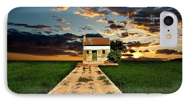 IPhone Case featuring the photograph Lonely Farm House  by Harry Spitz
