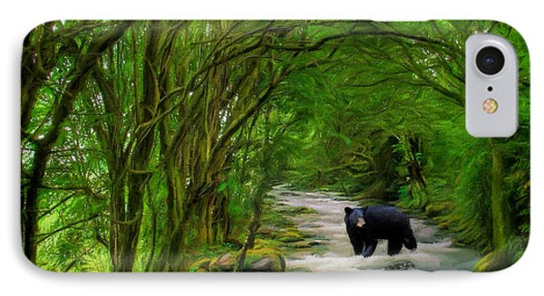 IPhone Case featuring the painting Lonely Hunter by Steven Richardson