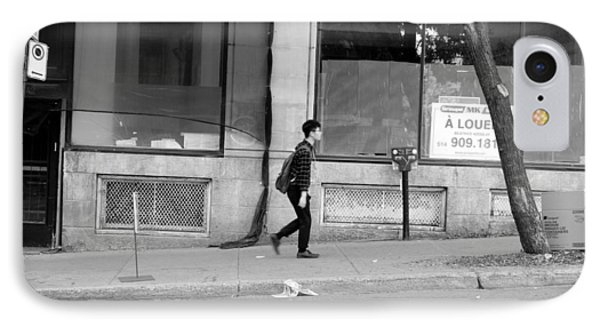 IPhone Case featuring the photograph Lonely Urban Walk by Valentino Visentini