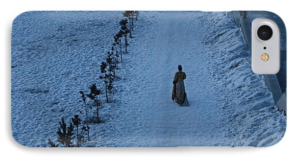 Lonely Walk/tsagaan Sar IPhone Case by Diane Height