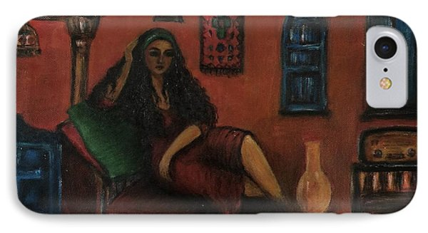 Lonely Woman IPhone Case by Siran Ajel