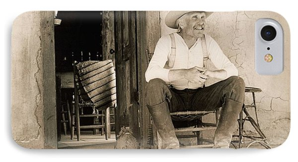 Lonesome Dove Gus On Porch Signed Print IPhone Case
