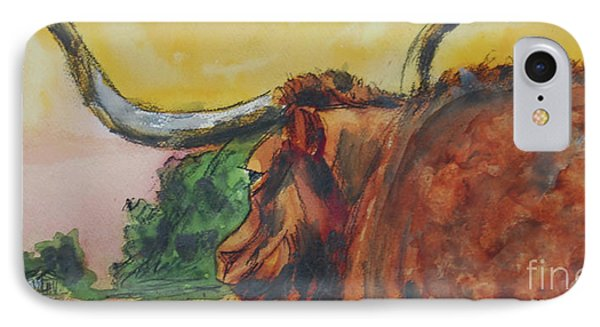 Lonesome Longhorn IPhone Case