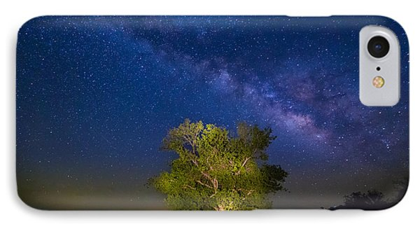 Milky Way Tree IPhone Case by Inge Johnsson