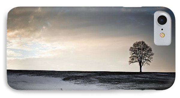 Lonesome Tree On A Hill IIi IPhone Case by David Sutton