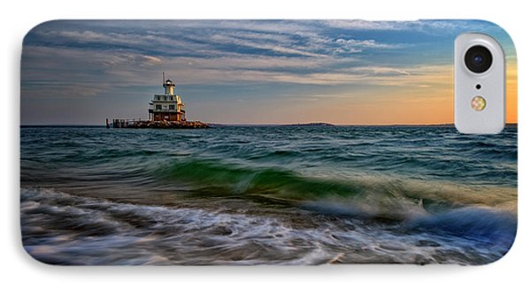 Long Beach Bar Lighthouse IPhone Case by Rick Berk