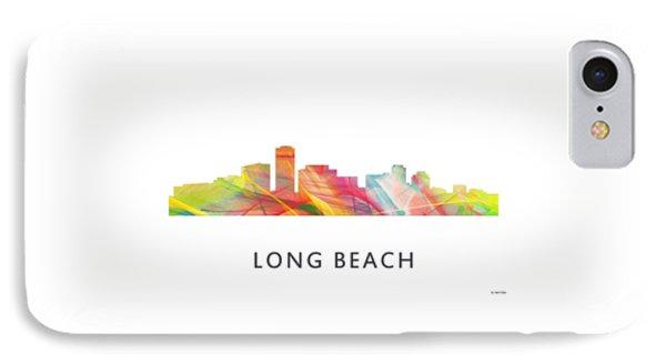 Long Beach California Skyline IPhone Case