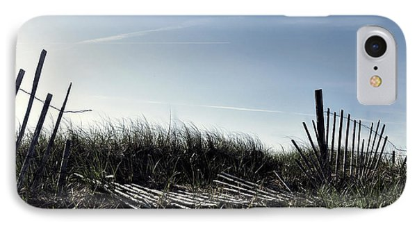 Long Beach Fence IPhone Case by Joanne Brown