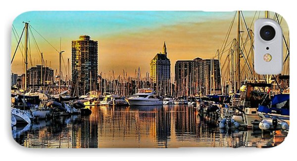 IPhone Case featuring the photograph Long Beach Harbor by Mariola Bitner