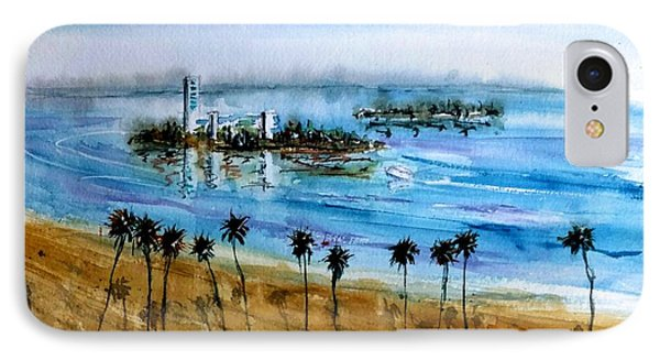 Long Beach Oil Islands Before Sunset IPhone Case by Debbie Lewis