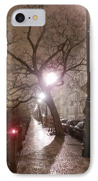 Long Cobblestone Street Of Prague IPhone Case by Margaret Brooks