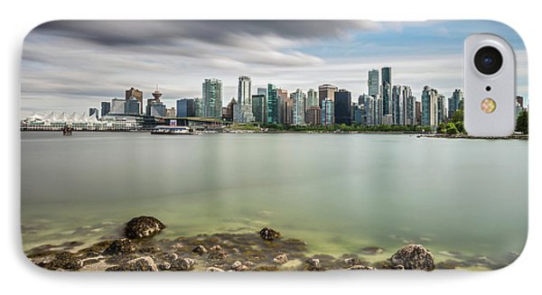 IPhone Case featuring the photograph Long Exposure Of Vancouver City by Pierre Leclerc Photography