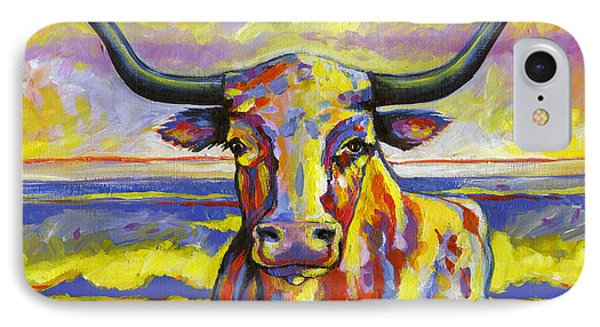 Long Horn At Sunset IPhone Case by Leanne Wilkes
