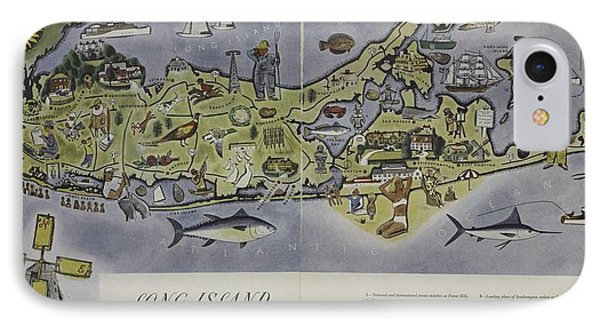 Long Island An Interpretive Cartograph IPhone Case by Duncan Pearson