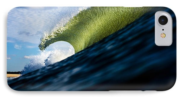Long Island Blue Sky Green Wave IPhone Case by Ryan Moore