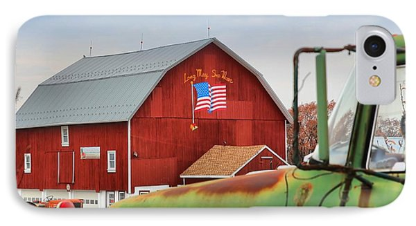 IPhone Case featuring the photograph Long May She Wave by DJ Florek