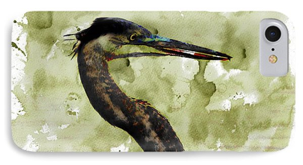 Long Neck 5 IPhone Case by Marty Koch