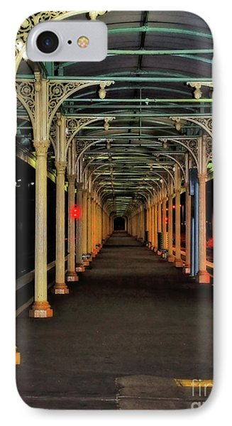 IPhone Case featuring the photograph Long Platform Albury Station By Kaye Menner by Kaye Menner