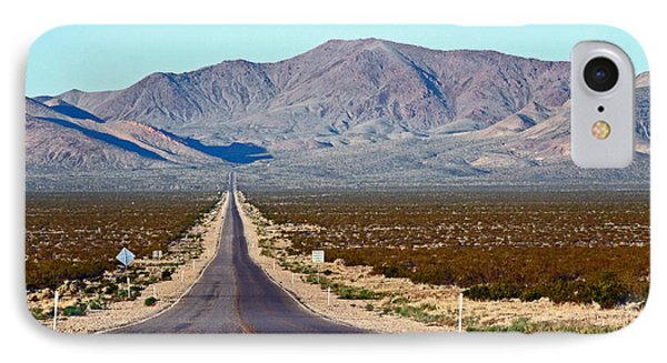 Long Road Out Of Beatty IPhone Case by Steve  Gass