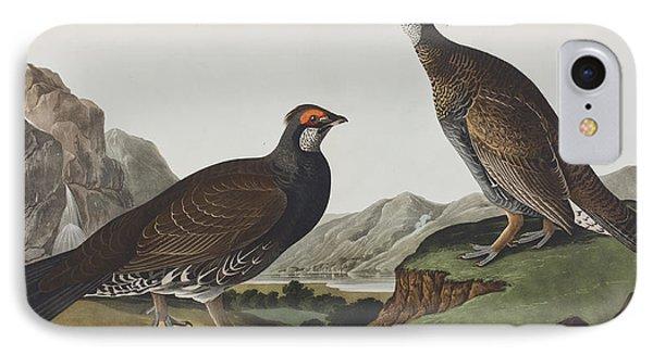 Long-tailed Or Dusky Grous IPhone 7 Case by John James Audubon