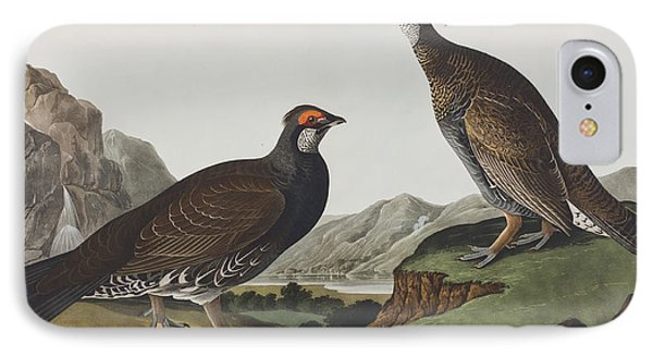 Long-tailed Or Dusky Grous IPhone Case by John James Audubon