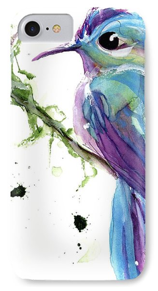 IPhone Case featuring the painting Long-tailed Sylph by Dawn Derman