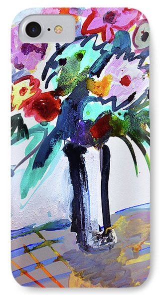 Long Vase Of Red Flowers IPhone Case