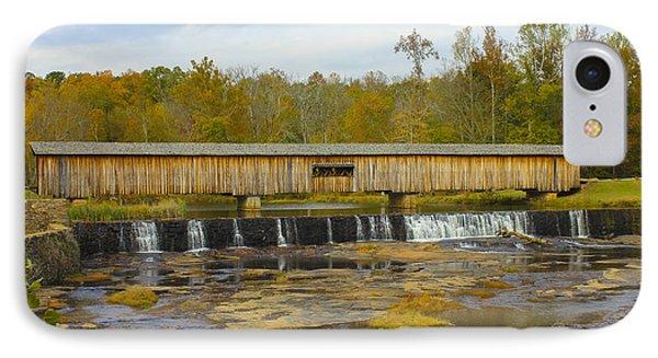 Longevity Watson Mill Covered Bridge IPhone Case by Reid Callaway