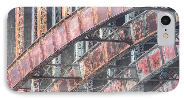 Longfellow Bridge Arches I Phone Case by Clarence Holmes