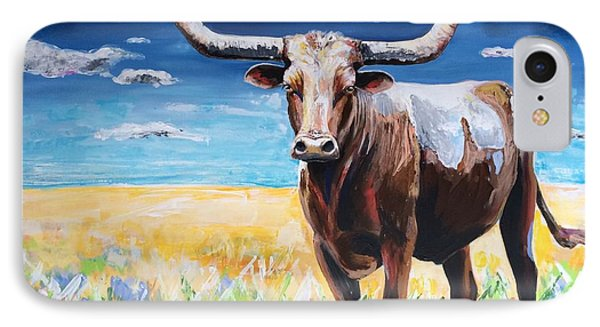 Longhorn IPhone Case by Alana Clumeck