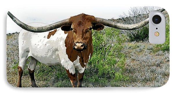 Longhorn Bull Of Texas IPhone Case