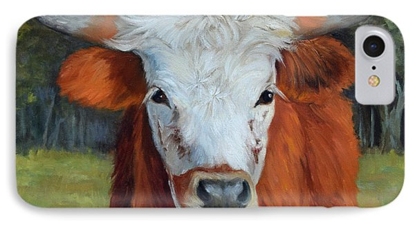 Longhorn Cow Painting II, Ms Tilly  IPhone Case