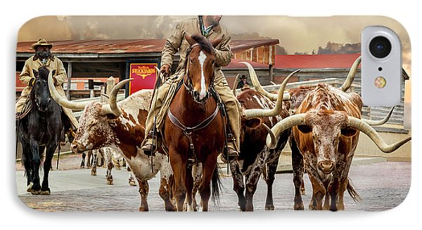 Longhorn Parade IPhone Case by Kelley King