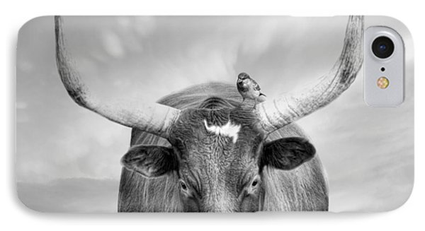 IPhone Case featuring the photograph Longhorn Respite by Robin-Lee Vieira