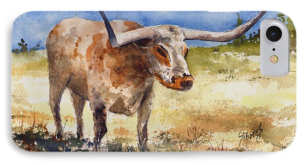 Longhorn IPhone Case by Sam Sidders