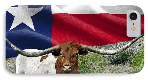 Longhorn Texas Pride IPhone Case