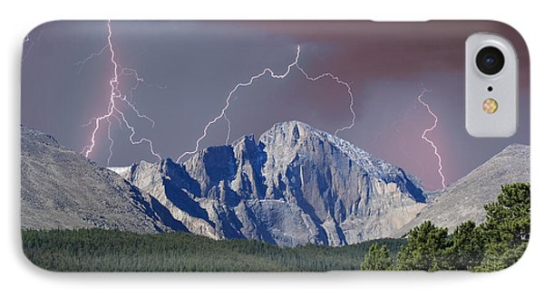 Longs Peak Lightning Storm Fine Art Photography Print IPhone 7 Case
