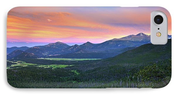 IPhone 7 Case featuring the photograph Longs Peak Sunset by David Chandler