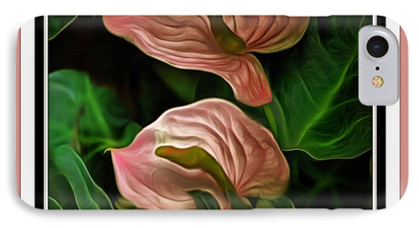 IPhone Case featuring the mixed media Longwood Lilies by Trish Tritz