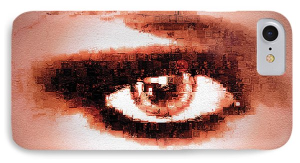 IPhone Case featuring the digital art Look Into My Eye by Paula Ayers