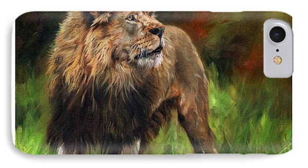 Look Of The Lion IPhone Case by David Stribbling