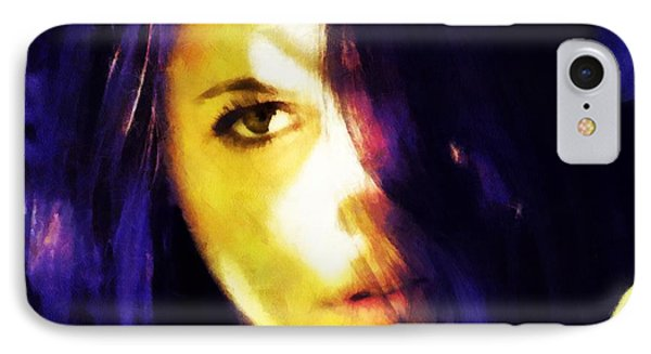 Looking At The World With One Eye Is Enough IPhone Case by Gun Legler