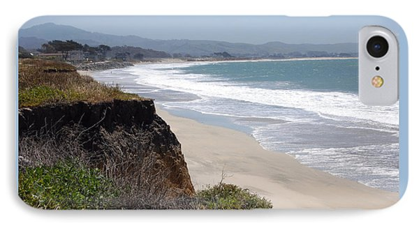 Looking Back At Half Moon Bay From The North Phone Case by Carolyn Donnell