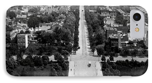 Looking Down East Capitol Street From The Dome Of Capitol Building - Washington Dc - C 1890 IPhone Case by International  Images